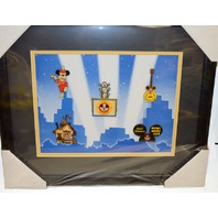 Disney's Mickey Mouse Club Framed Pin Set. - 5 pins - Limited edition of 1000 pcs.