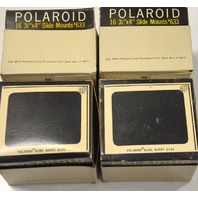 """4 - 16 pc boxes of Polaroid Slide Mounts Number 633 - 4"""" x 3 1/4"""" - New Old Stock"""