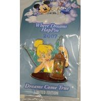 Disney Where Dreams HapPin LE Tinker Bell w/ Captian Hook in the lantern.