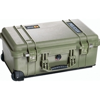 Pelican 1510 Case no Foam Carry-On Case Silver or Olive Green