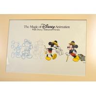 "Disney MGM Studios Art of Animation Cel ""Traveling Mickey"" -Progression"
