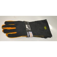 One Pair Heavy Duty Suede Xtra long BBQ Gloves - Heat Resistant Cooking Must Have
