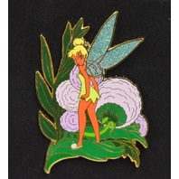 Disney Red Tinker Bell on Leaf LE-500 Collectible Pin - Sunburn