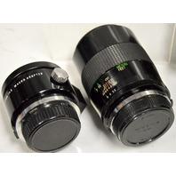 Vivitar Series 1 90mm 1:2.5 Macro Lensw/ Vivitar Series 1 90mm 2.5 macro Adapter