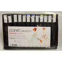 Copic Sketch FashionDesign - 26 pc color set Dual tip markers.