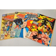 4 Collectible comics: Marvel X-Force, DC Man of Steel # 1, 2, 3.