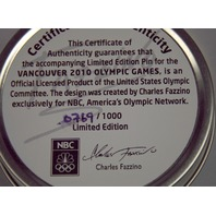 NBC 2010 Olympic Snowflake Pin Limited Edition 0769 / 1000 by Fazzino