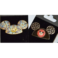3 - Mickey Mouse Ears Hats -  all different, Hawaiian, Jeweled and 50th.