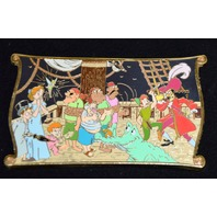 Disney Peter Pan Storybook Jumbo Pin-Peter/Captain Hook/Wendy  LE500