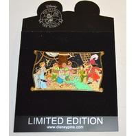 Disney Peter Pan Storybook Jumbo Pin-Peter/Captain Hook/Wendy  LE500