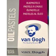 Royal Talens Box of 60 Oliepastels-Van Gogh, Box drawer pushes in and locks.