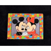 Disney Mosaic Frame Series with Mickey and MInnie LE Pin