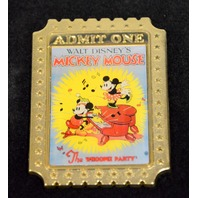 Disney Pin - Admission One Ticket LE350 - The Whoopee Party Piano Poster