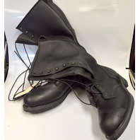 Cove Shoe Company - Black Eyelet Boots - New - Size 14D - No box.