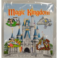 Disney Magic Kingdom 4 piece pin set: Mickey, Donald, Minnie and Goofy