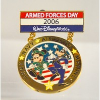 "Disney Collectible Pin ""Armed Forces Day 2006 - LE2000 - Mickey and Goofy"