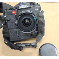 Leitz R4  Leica Camera Body w/Motor drive R4 w/Leitz Wetzlar Fisheye Elmarit-R Lens