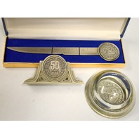 USAF 3 Piece Set Commemorating 50 years: Paper Weight,Letter opener, Card Holder