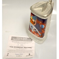 """The Doomsday Machine Ceramic Stein w/Pewter Lid."