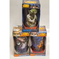 Star Wars Pint Glasses- set of 3 - Disney