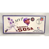 Sammy Sosa - Chicago Cubs 1998 Officical Commemorative Envelope Signed