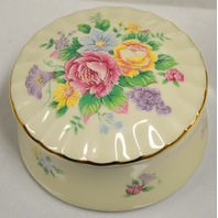 """Heritage House Music Box """"You Light Up My Life"""" Porcelain Floral."""