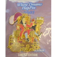 Disney Where Dreams HapPin - Captian Hook of the Caribbean LE 55607