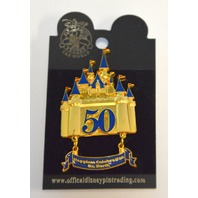 The Happiest Celebration on Earth- Golden Castle w/Banner - 50th Anniversary