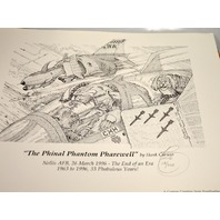 """The Phinal Phantom Pharewell"" by Hank Caruso LE 113/200 - Nellis AFB 1996."