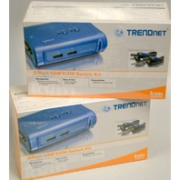 2 - Trendnet 2-Port USB KVM Switch Kit  #TK-207K