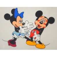 "The Walt Disney Company Serigraph Cel ""Minnie loves Mickey"" in Gold Frame"