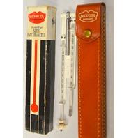 Weksler Instrument Pocket-Type Sling Psychrometer with case.