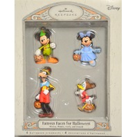 Hallmark Disney 4 Faces for Halloween, Mickey,Minnie,Goofy and Donald Oranments