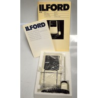 ILFord DT30 Digital Thermometer measures solutions in the dark room.