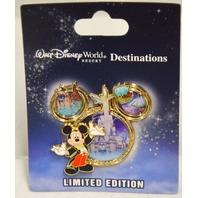 WDW Destinations, Mickey Mouse Icon Mgic Kingdom park LE Pin