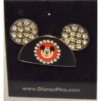 Disney Mickey Mouse Ear Hat Pin Rhinestones.
