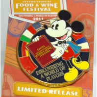 Disney Epcot International Food and Wine Festival Spinner Pin