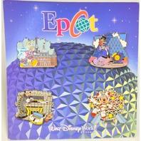 Disney Epcot Mickey & Figment Goofy, Donald Booster 4 pin Set