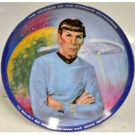 "1983 Star Trek Collector Plate ""Mr. Spock"" #3765R by Susan Morton"