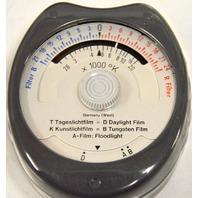 Vintage  Gossen Sixticolor  Color Temperature Light Meter with Case.