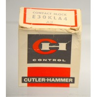 Cutler Hammer #E30KLA4 Contact Block - New Old Stock