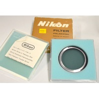 Nikon 62mm Polarizing Screw-In Mount Camera Lens Filter - NIB