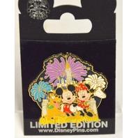 Disney-Mickey MInnie and Pluto LE Walt Disney World Castle B5