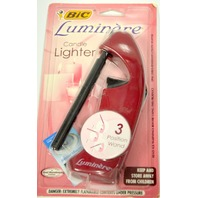 Bic Luminere Candle Lighter - 3 Position Wand - Burgundy