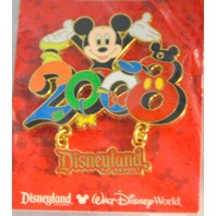 Disneyland Resort Pins 2008 Mickey Mouse Pin and Minnie Mouse Dangle Pins
