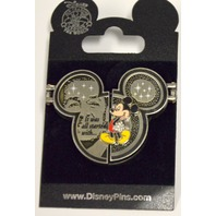 "Disney Pin ""It All started with....Picutre Frame Three Sided Opening. #04690"