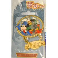 3 Disney Pins: Conductor Dangle Pin, Mickey Incredibles and 10 Years of trading.