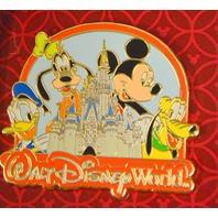3 Disney Pins-Mickey/Minnie-Mickey/Pluto-Mickey,Donald,Goofy and Pluto 2009