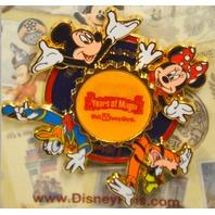 Walt Disney World-Mickey, MInnie, Donald and Goofy Spinner Pin 3D