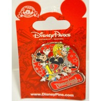 Disney  Spinner Pin, #88134, 2012, Mickey,Minnie,Donald and Goofy